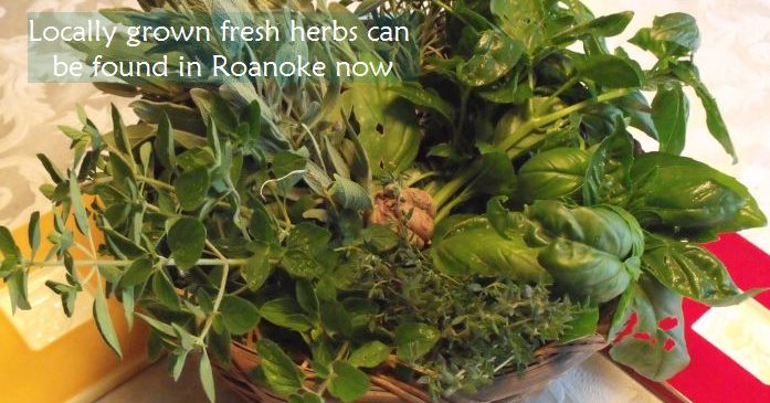 What local to Roanoke vegetables & herbs are now in season?