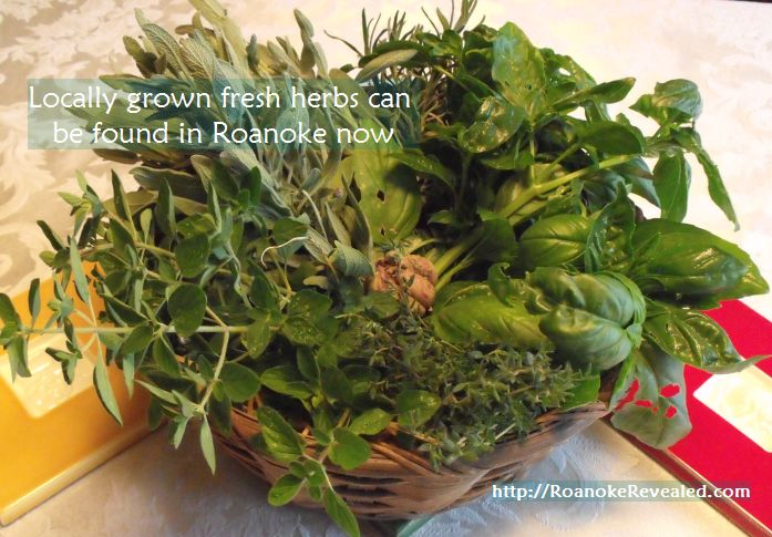 Fresh herbs grown locally are now in season in Roanoke. Find out where at http://RoanokeRevealed.com