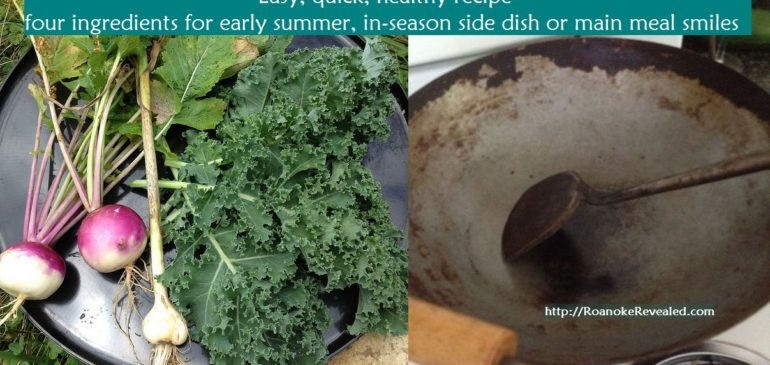 Kale & Turnips both taste better with this quick, fun recipe