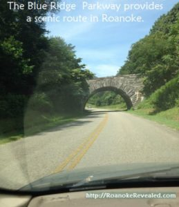 Roanoke's Blue Ridge Parkway offers a scenic travel option.
