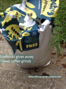 Want big bags of free used coffee grinds for your garden? Find out how this and other free techniques can net tastier vegetables at http://RoanokeRevealed.com