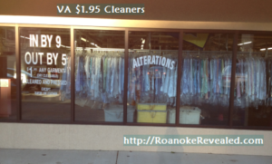 VA $1.95 Cleaners is a find for travelers & residents in Roanoke
